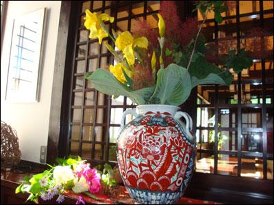 朝採りの花