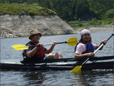 フォレスト&ウォーターのカヌー体験