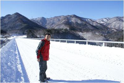 雪の合瀬大橋