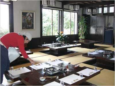 万葉亭の食堂