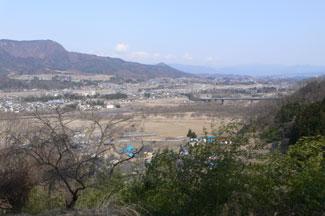 名胡桃城跡から見た風景
