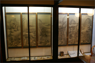 谷文晁の山水図