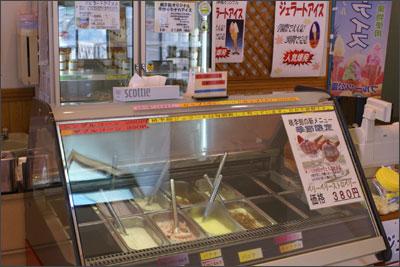 桃李館のジェラートアイス