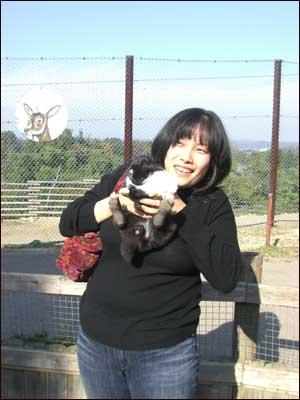 うさぎを抱く熊