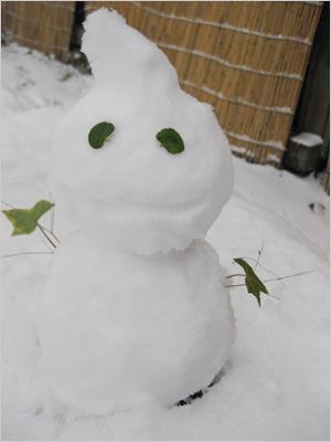 雪だるまとおちゃ