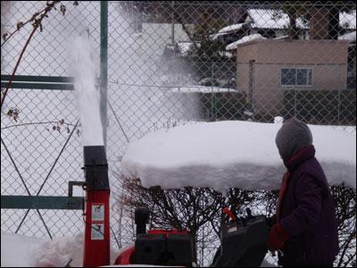 除雪機の出番-2